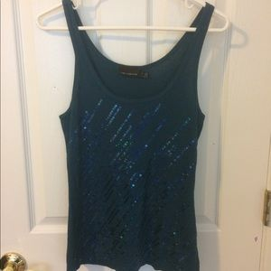 The Limited Teal Blue/Green Sequined Tank Top Sz S